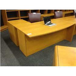 CHERRY RIGHT HAND L-SHAPE EXECUTIVE DESK