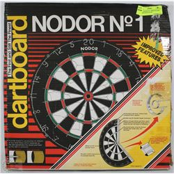 NEW - NODOR NO-1 BRISTLE DART BOARD (MADE IN UK)