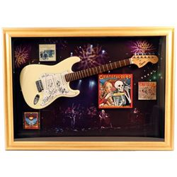 Grateful Dead Band Members Signed Guitar Framed
