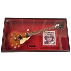 Bob Dylan Signed Guitar Framed