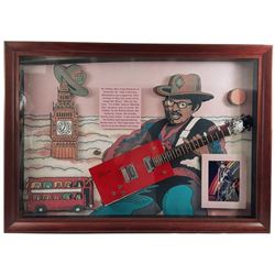 Bo Diddley Signed Guitar Framed