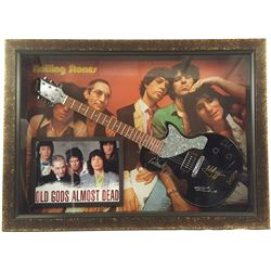 The Rolling Stones Signed Guitar Framed