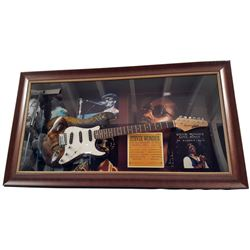 Stevie Wonder Signed Guitar Framed