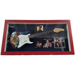 Willie Nelson Signed Guitar Framed