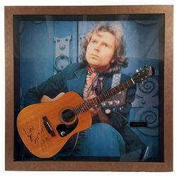 Van Morrison Signed Guitar Framed