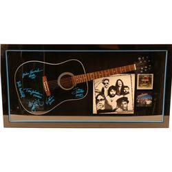 The Doobie Brothers Signed Guitar Framed