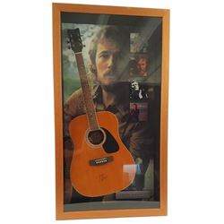 Gordon Lightfoot Signed Guitar Framed