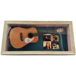 Judy Collins Signed Guitar Framed