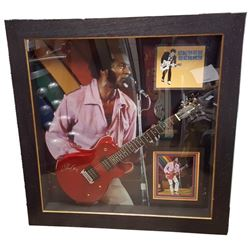 Chuck Berry Signed Guitar Framed