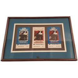 Bill Graham 1969 Tickets: Led Zeppelin/The Rolling Stones Framed