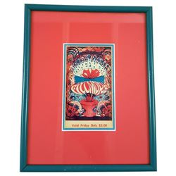 Bill Graham San Francisco Concert Ticket: Canned Heat Framed