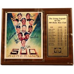 The Living Legends of the 500 Home Run Club Signed Plaque