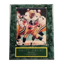 Brett Favre 1995 MVP Signed Photo Plaque