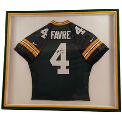 Brett Favre Green Bay Packers Signed Jersey Framed