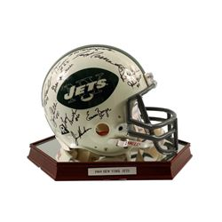 1969 New York Jets Team Signed Football Helmet Framed