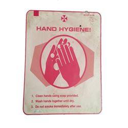"Resident Evil: The Final Chapter ""Hand Hygiene"" Sign Movie Props"