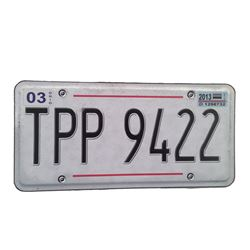 "Resident Evil: The Final Chapter ""TPP"" License Plate Movie Props"