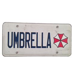 "Resident Evil: The Final Chapter ""Umbrella"" License Plate Movie Props"