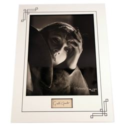 Greta Garbo Autograph and Photo