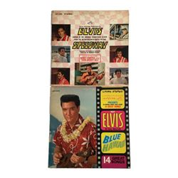 Elvis Presley 1960s Soundtrack Record Albums Blue Hawaii and Speedway
