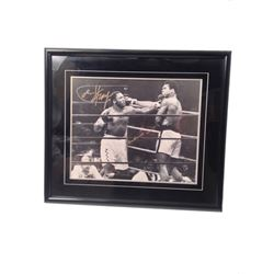 Muhammad Ali, Joe Frazier Signed Framed Photo