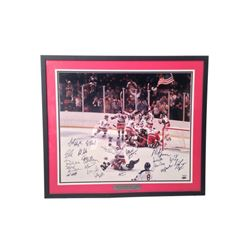 1980 USA Olympic Hockey Team Signed Framed Photo