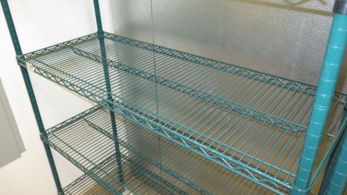 Green Focus Epoxy Coated Wire Shelving Unit - 6 Shelves 88.5\