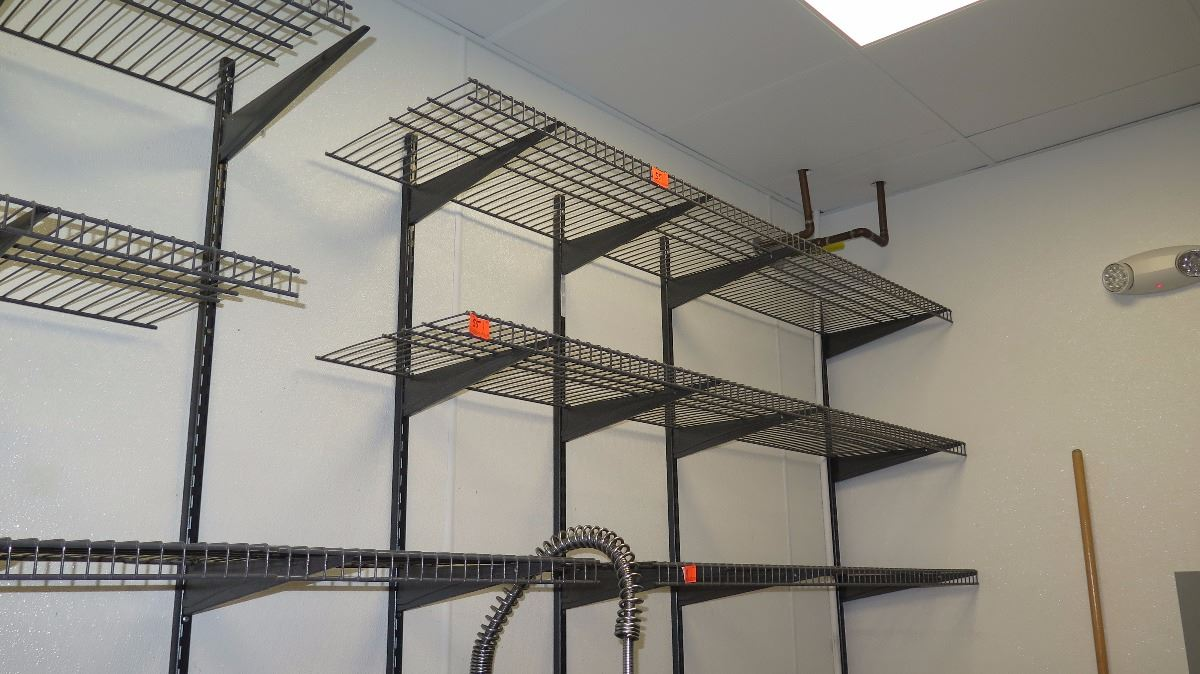 Wall Mounted Wire Shelving. 10 Closet Maid Wall-Mounted Wire ...