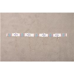 "Northern Plains Beaded Blanket Strip, 46"" long"
