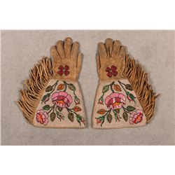 "Plateau Fully Beaded Gauntlets, 16 ½"" long"