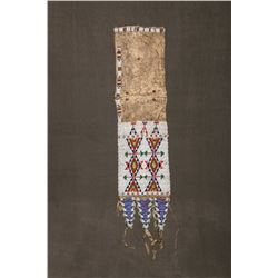 "Sioux Tab-Style Beaded Pipebag, 28"" overall"