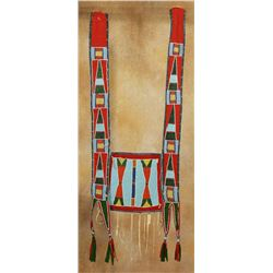 "Crow Martingale, 38"" long, 14"" wide"