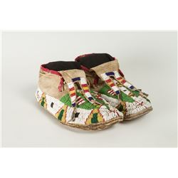 "Lakota Beaded Man's Moccasins, 10 ½"" long"