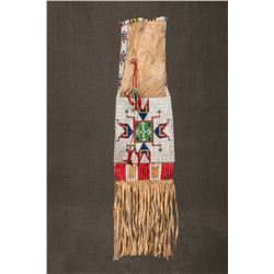 "Sioux Quilled and Beaded Pipebag, 29"" overall"