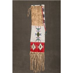 "Sioux Quilled and Beaded Pipebag, 35"" overall"
