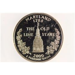 2000-S MARYLAND QUARTER ANACS PR70 DCAM