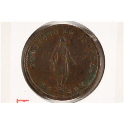 1852 QUEBEC HALF PENNY BANK TOKEN
