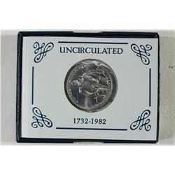 1982-D WASHINGTON COMMEMORATIVE SILVER HALF UNC