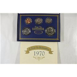 1970 US UNC SET WITH 40% SILVER JOHN F. KENNEDY