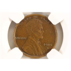 1915-D LINCOLN CENT NGC XF45 BN