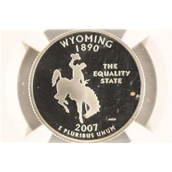 2007-S SILVER WYOMING QUARTER NGC PF69 ULTRA CAMEO