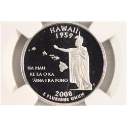 2008-S SILVER HAWAII QUARTER NGC PF70 ULTRA CAMEO