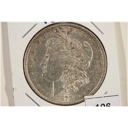 1878 MORGAN SILVER DOLLAR AU