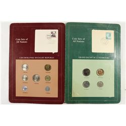 2 COIN SETS OF ALL NATIONS SEE DESCRIPTION