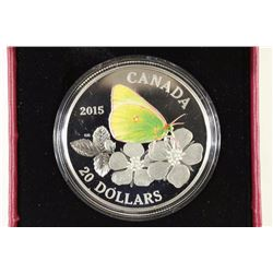2015 CANADA FINE SILVER COIN COLORIZED PROOF