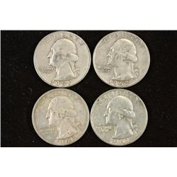 1951,57-D,61-D & 62-D WASHINGTON SILVER QUARTERS