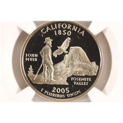 2005-S CALIFORNIA QUARTER NGC PF70 ULTRA CAMEO