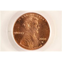 2008-D LINCOLN CENT PCGS MS65RD