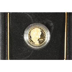 2016-W MARK TWAIN PROOF GOLD $5 COIN 1/4 OZ.