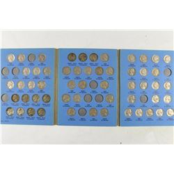 PARTIAL 1938-1961 JEFFERSON NICKEL SET 55 COINS